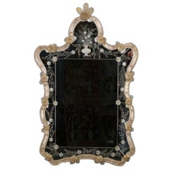Fancy Venetian Mirror with Colored Glass Frame