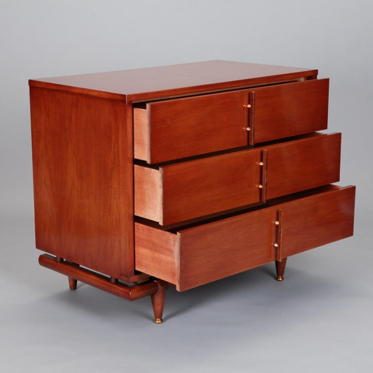 French mid century three drawer cabinet for sale at 1stdibs for Kitchen drawers for sale