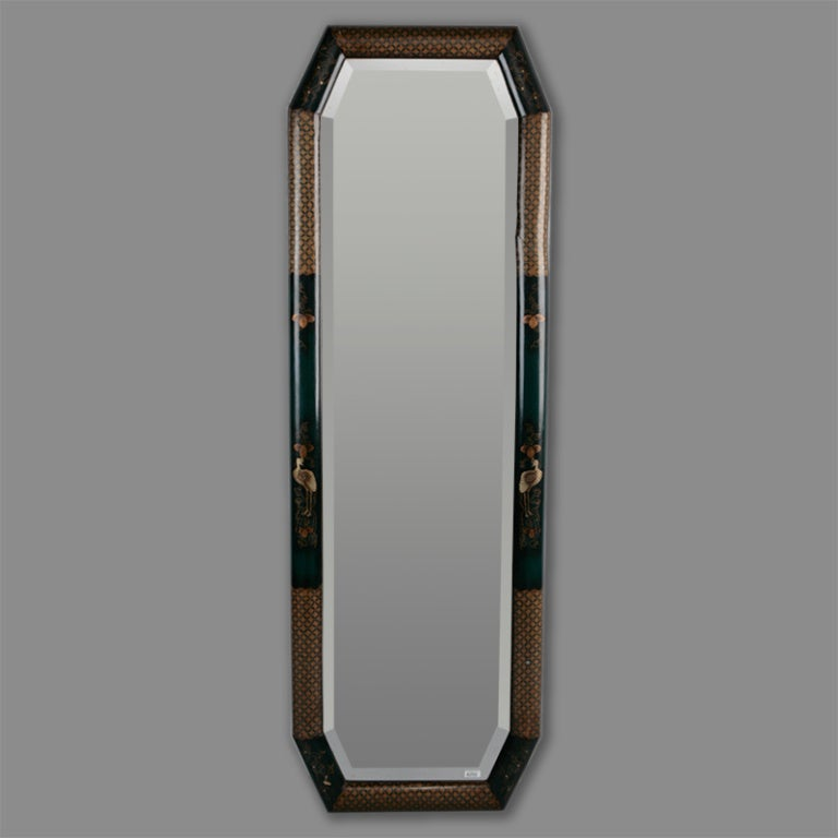 Long narrow chinoiserie mirror at 1stdibs for Narrow wall mirror decorative