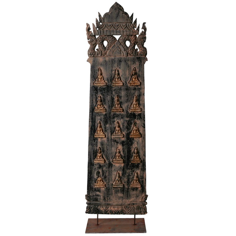 Large carved wood panel from bali at stdibs