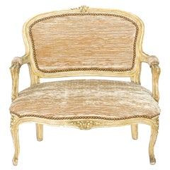 Diminutive Child-Sized Louis XV Painted Settee