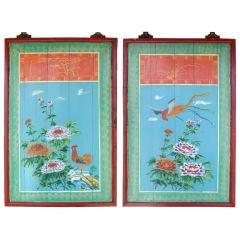 Pair of Handpainted Panels