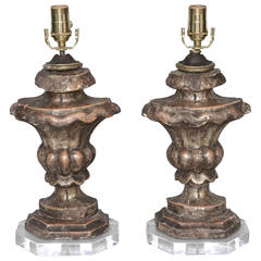 Pair of 18th Century Urn Fragment Lamps