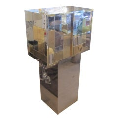 Paul Evans Cityscape Cabinet on Cutom Made Pedestal