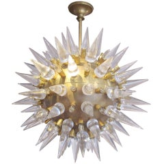 Italian Murano Glass And Gilt-metal 'sputnik' Chandelier