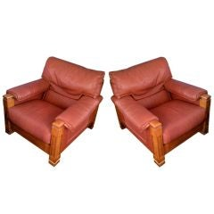 Pair of Phenomenal Mid-Century Club Chairs
