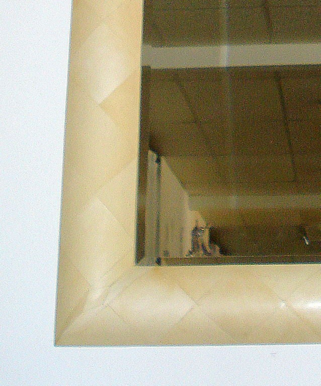 American Parchment Mirror  For Sale