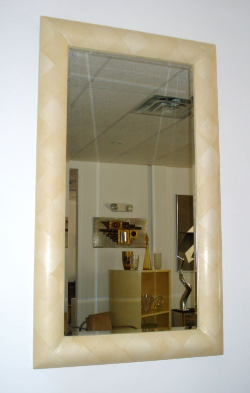 Late 20th Century Parchment Mirror  For Sale