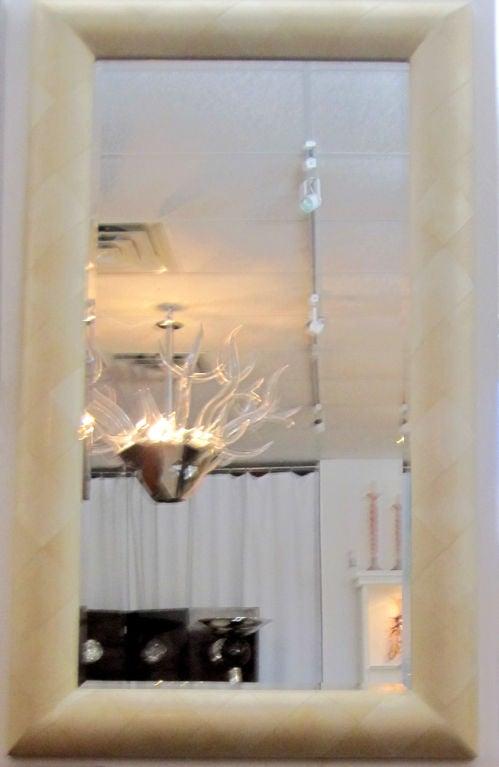 Parchment Mirror  For Sale 3