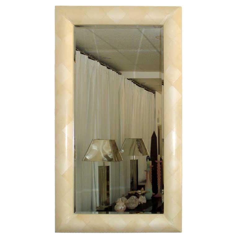 Parchment Mirror  For Sale