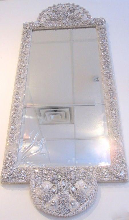 swarovski crystal jeweled mirror at 1stdibs