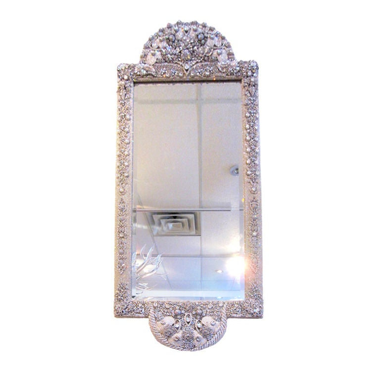 Swarovski Crystal Jeweled Mirror At 1stdibs