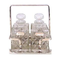 Crystal Art Deco Decanter Set