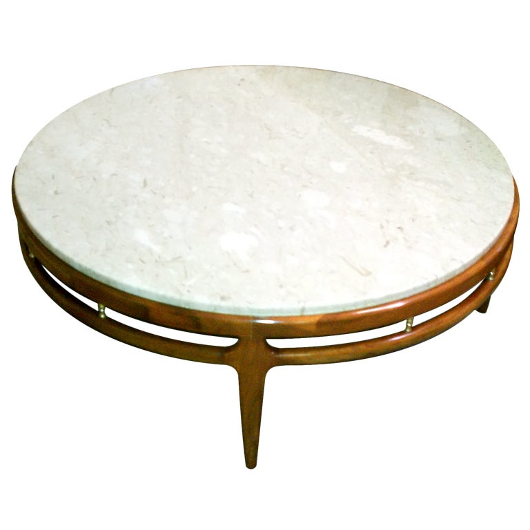 Mid-Century Marble Top Coffee Table At 1stdibs