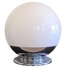 Monumental Mid-Century Globe Lamp