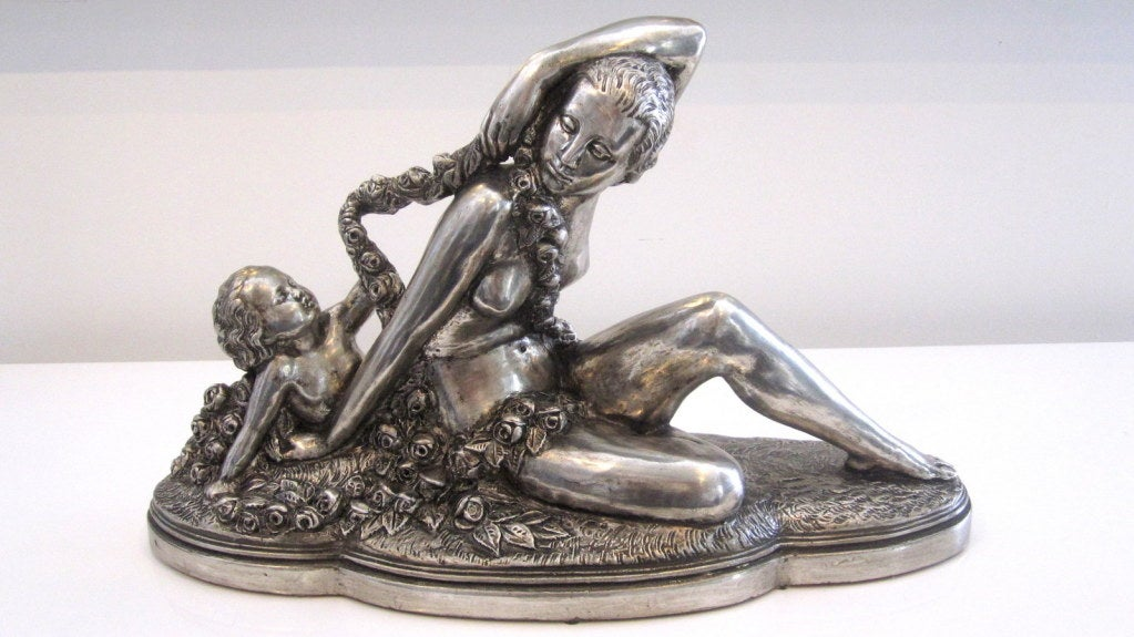 20th Century French Art Deco Sculpture signed B. Rezl For Sale