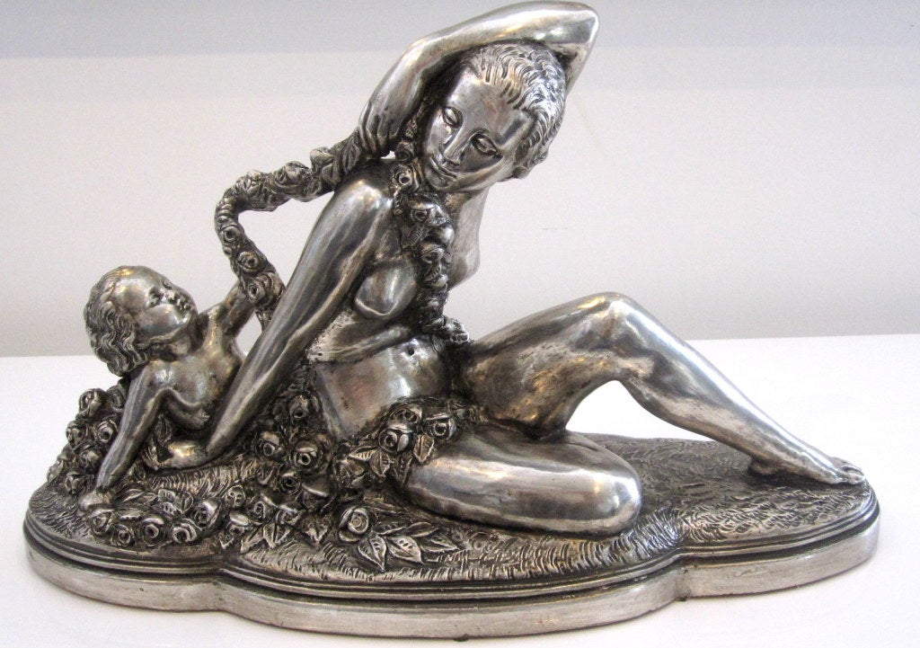 French Art Deco Sculpture signed B. Rezl For Sale 2