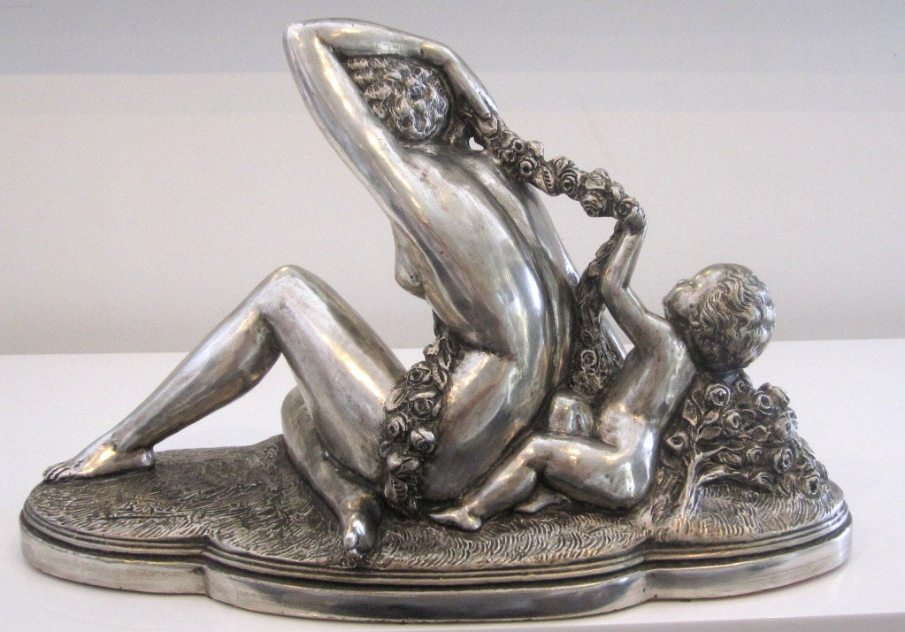 French Art Deco Sculpture signed B. Rezl For Sale 3