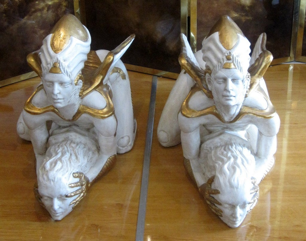 Pair Of Phenomenal Fertility Angel Statues For Sale At 1stdibs