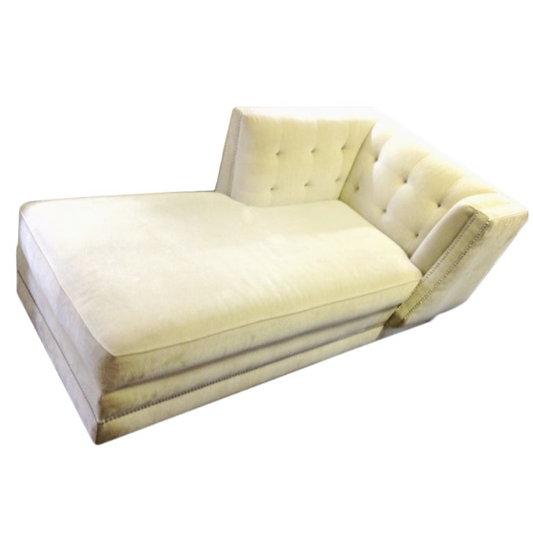 Glamorous upholstered chaise longue for sale at 1stdibs for Chaise longue for sale