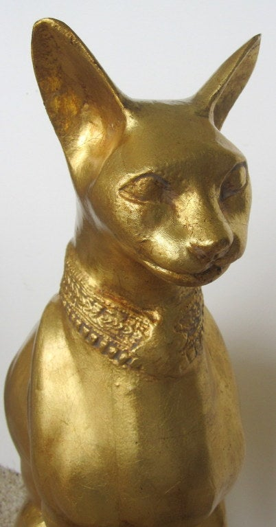 Egyptian Cat Sculpture by R. Viot 2
