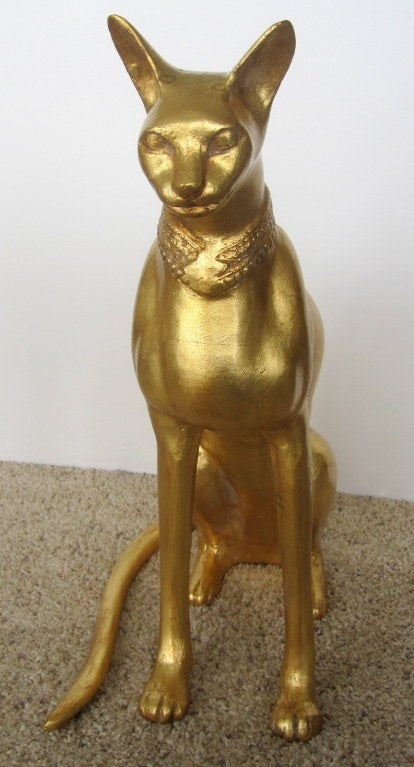 Egyptian Cat Sculpture by R. Viot 5