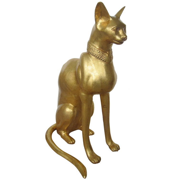 Egyptian Cat Sculpture by R. Viot