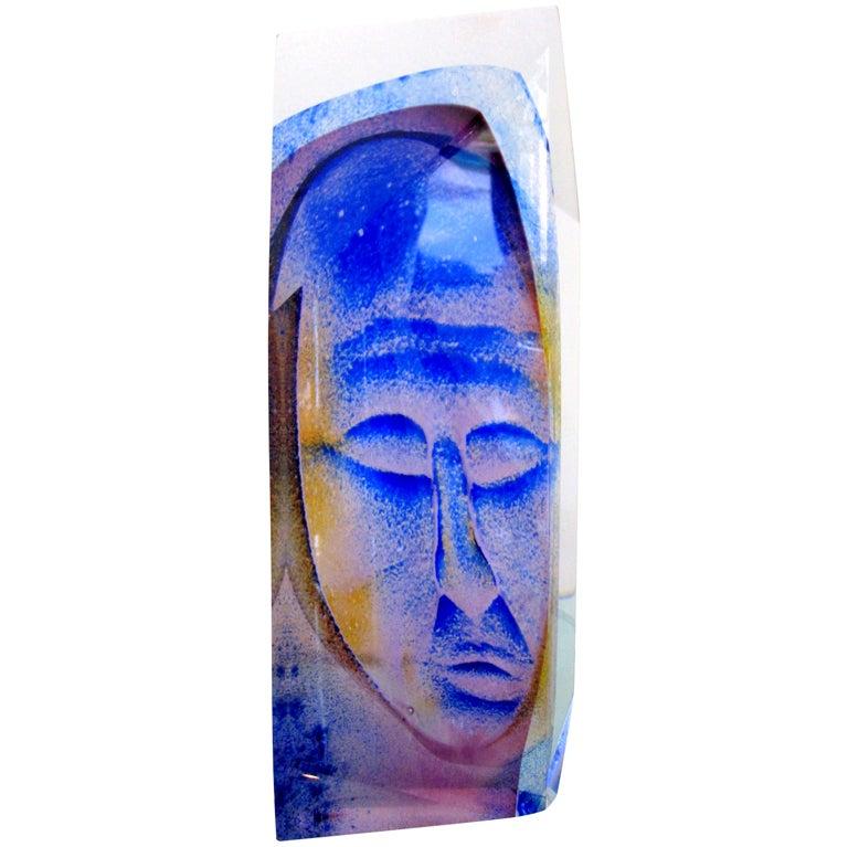 Unique Ken Carder Glass Art Sculpture