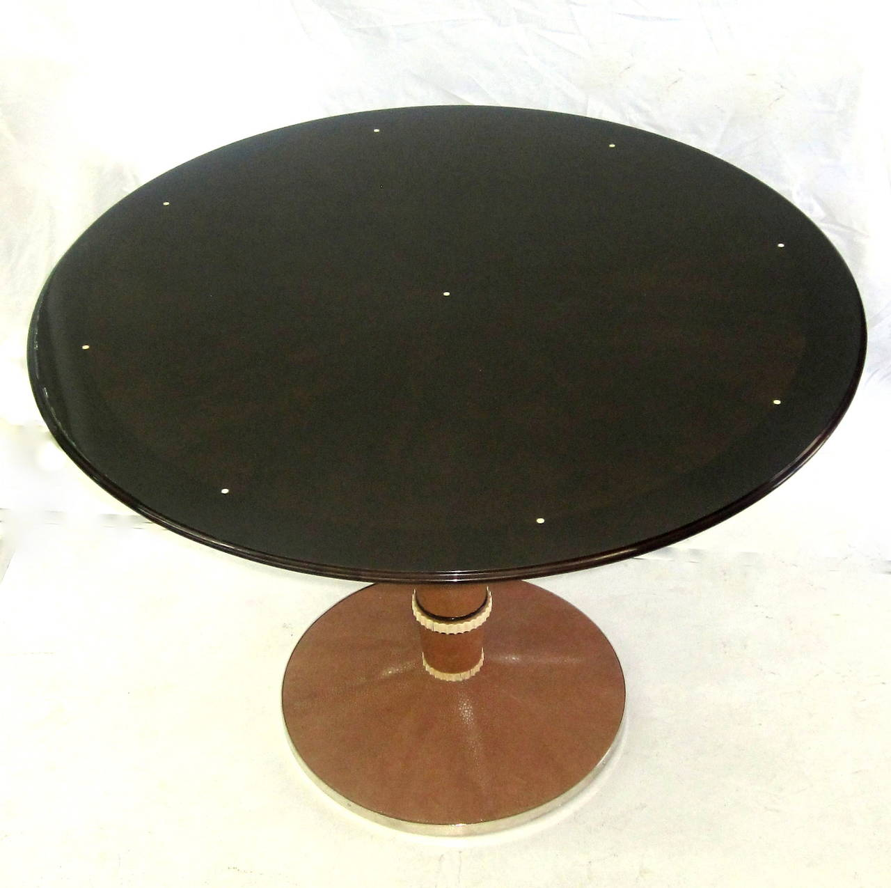 Polished Saddier French Art Deco Table For Sale