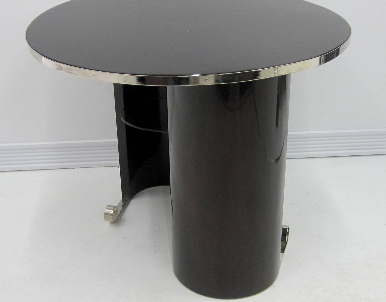 Palisander French Modernist Art Deco Table For Sale