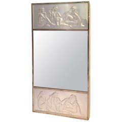 """Lalique, """"Les Causeuses,"""" Central Mirror"""