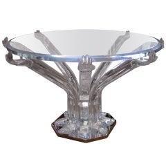 Unique Scuptural Lucite Table
