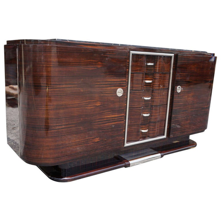 Art Deco Buffet] Classic French Art Deco Buffet Sideboard Credenza ...