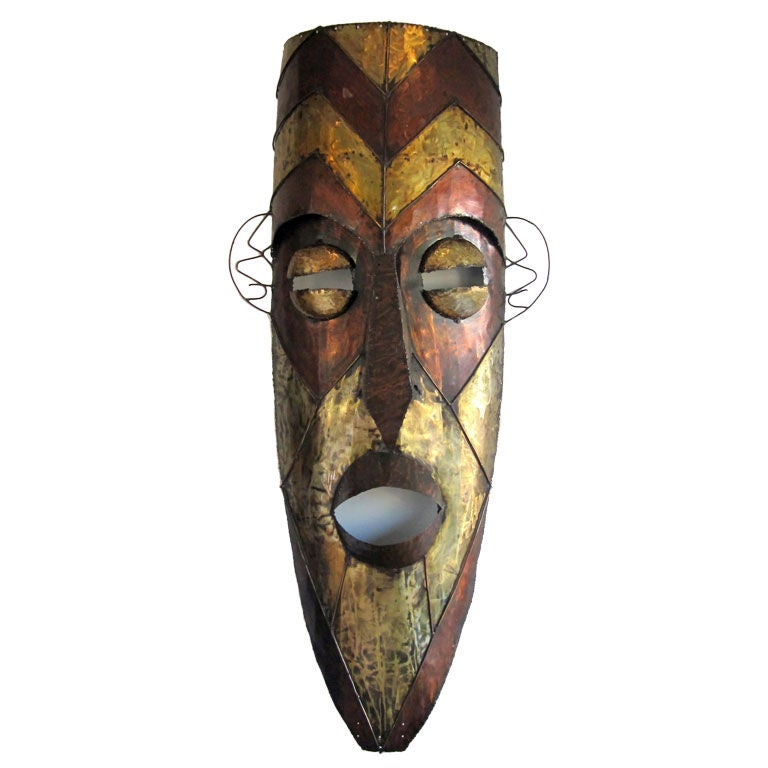 Mid-Century African Mask At 1stdibs