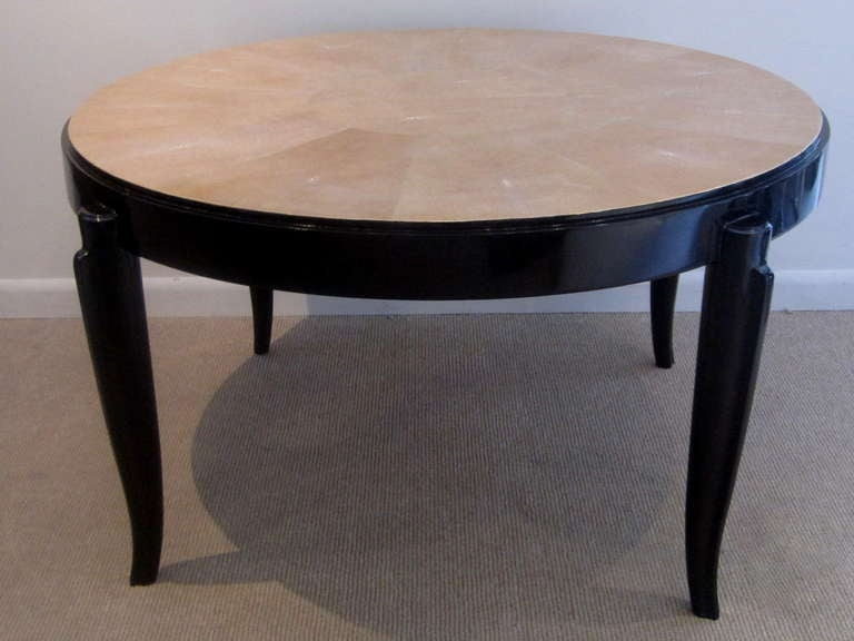 french art deco shagreen coffee table by jallot for sale at 1stdibs
