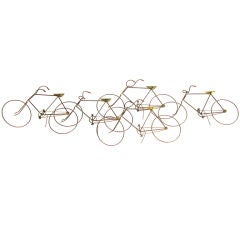 Curtis Jere Bicycles Wall Sculpture