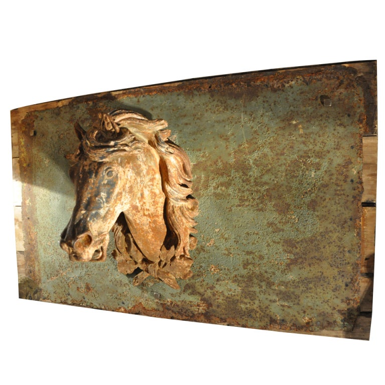 A French 19th Century Cast Iron Horse Head At 1stdibs