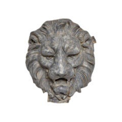 French Zinc Lion's Head image 2