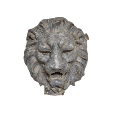 French Zinc Lion's Head