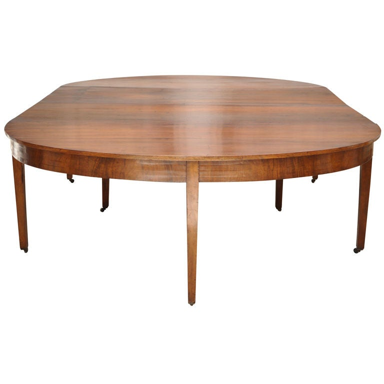 French Oval Coffee Table: A French Louis XVI Walnut Oval Dining Table At 1stdibs