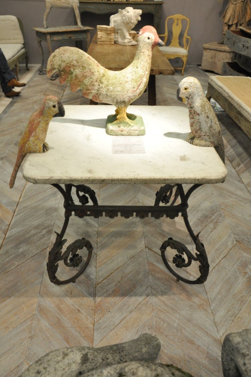 Italian nineteenth century fer forge table at 1stdibs for Table fer forge ronde