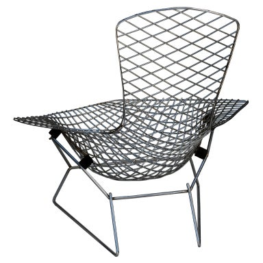 Harry Bertoia Quot Bird Chair With Foot Stool Quot By Knoll At 1stdibs