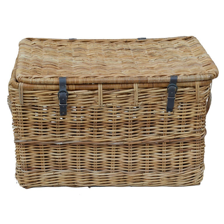 Auto Antique Wicker Trunks : Th century wicker trunk at stdibs
