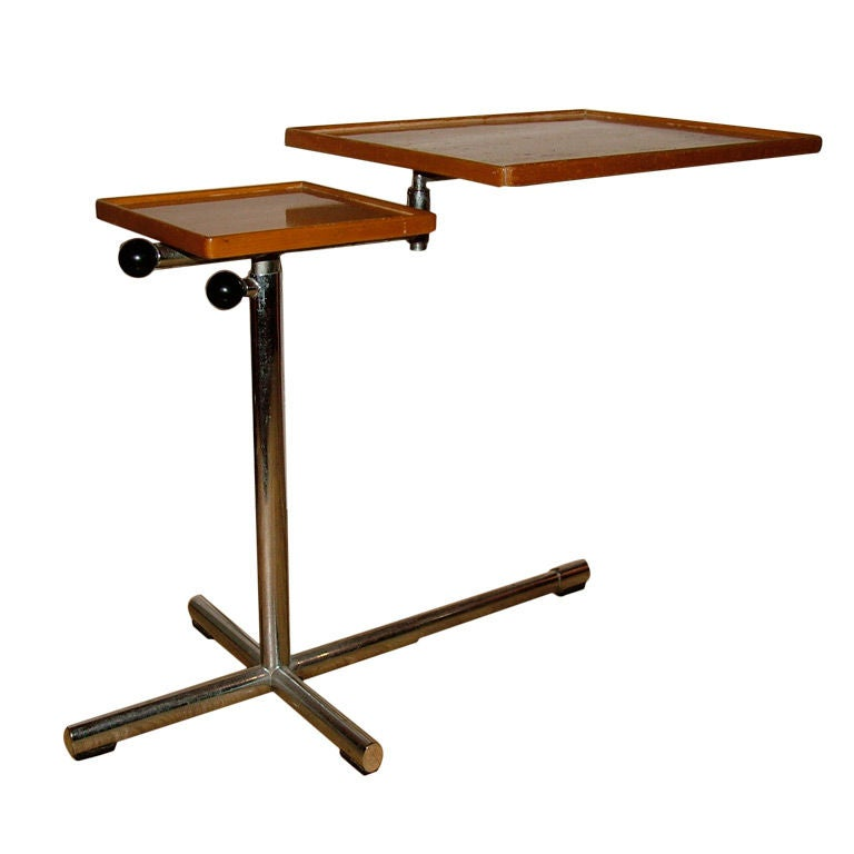 Early Modernist Adjustable Bedside Table Tray At 1stdibs