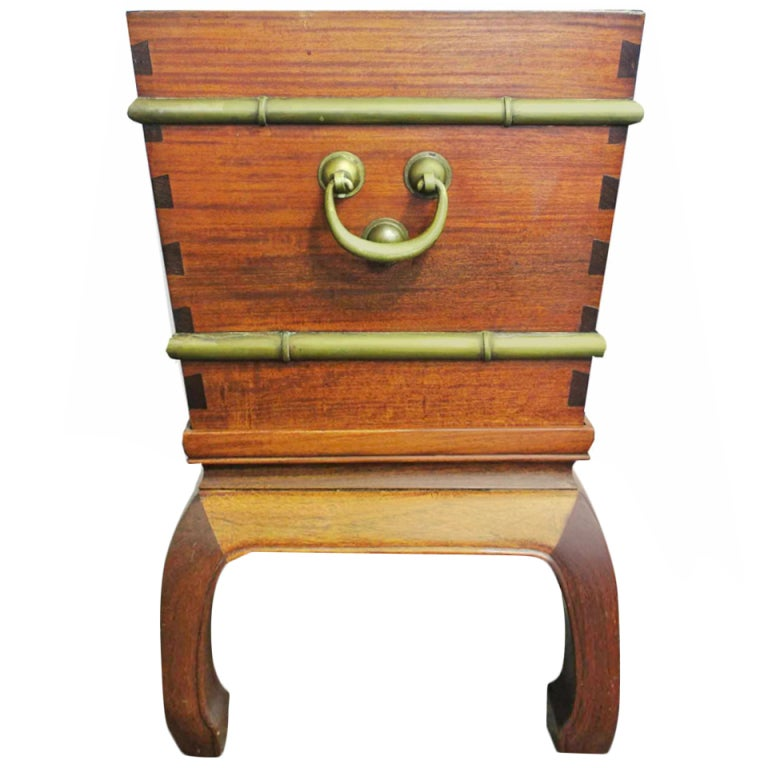 Chinese padouk wood wine cooler by george zee at 1stdibs for Chinese art furniture
