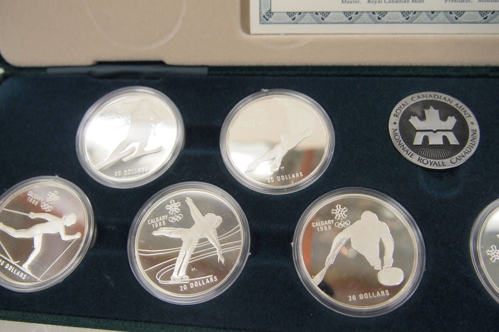 Royal Canadian Mint 1988 Olympic Sterling Silver Coins At