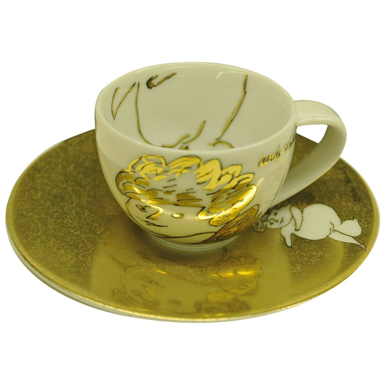 rosenthal studio line andy warhol cup and saucer at 1stdibs. Black Bedroom Furniture Sets. Home Design Ideas