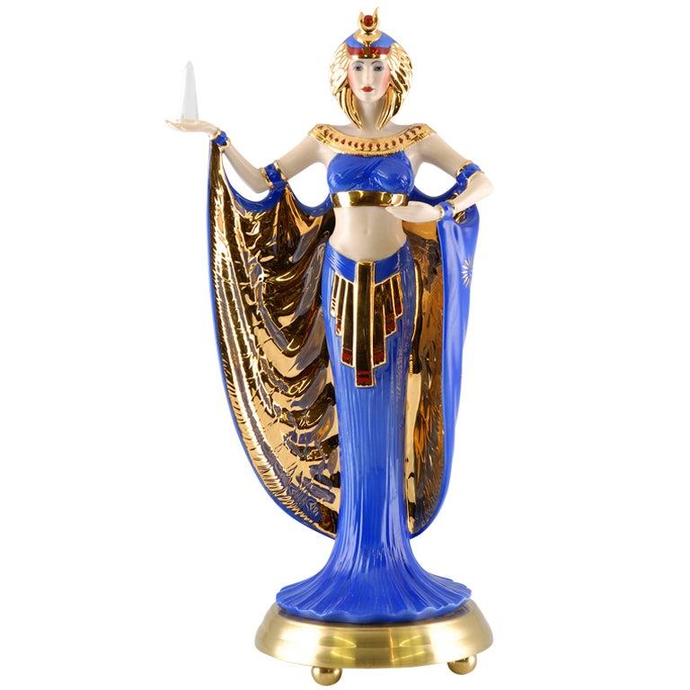 Egyptian Goddess By Power Porcelain At 1stdibs