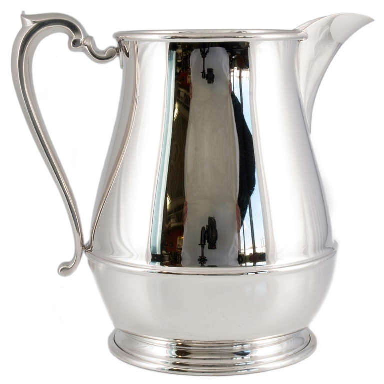 Vintage Sterling Silver Water Pitcher By Currier And Roby