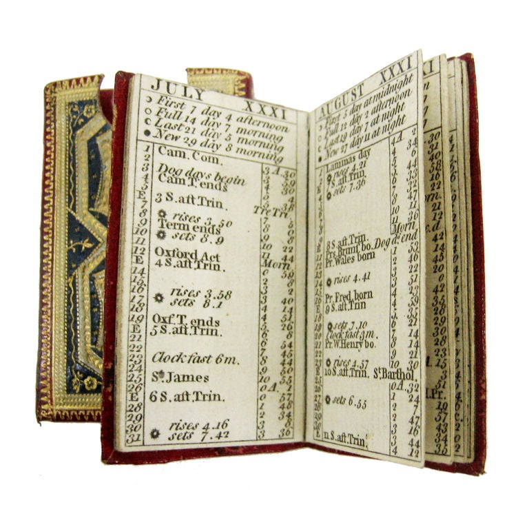 Antique English Miniature Alamanac For The Year 1783 At